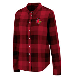 Colosseum Athletics SHIRT, LADIES, BUTTON UP, PLAID, RED/BLK, UL