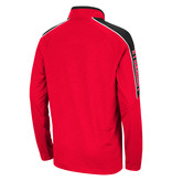 Colosseum Athletics PULLOVER, YOUTH, 1/4 ZIP, BUNSEN, RED, UL