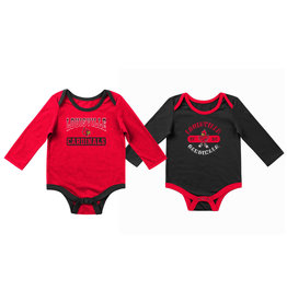 Colosseum Athletics ONESIE, INFANT, 2-PACK, RED/BLK, UL