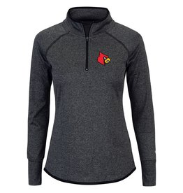 Colosseum Athletics PULLOVER, LADIES, 1/4 ZIP, BAILEY, BLACK, UL