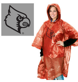Wincraft Inc RAIN PONCHO, RED/CLEAR, UL