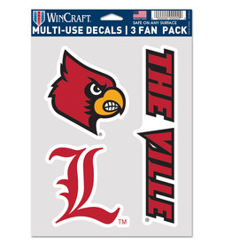 Wincraft Inc DECAL, MULTI-USE 3 FAN PACK, UL