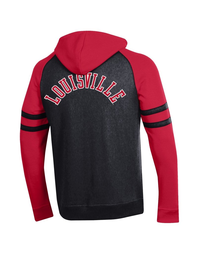 Champion Products HOODY, FZ, EMBROIDERY, MTO, RED/BLK, UL