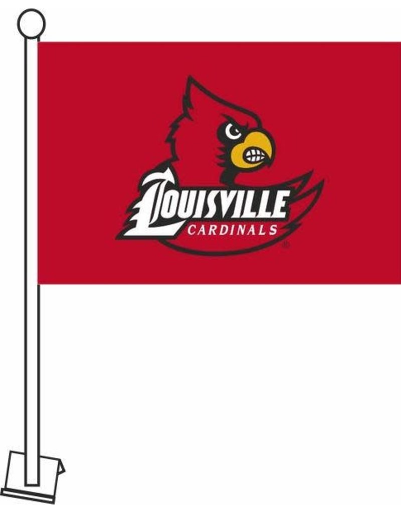 SEWING CONCEPTS CAR FLAG, WING LOGO, RED, UL