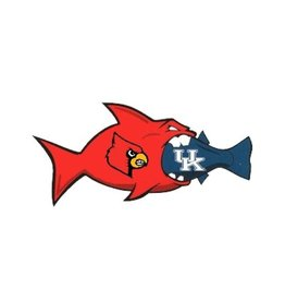 SDS Designs CAR MAGNET, RIVAL FISH, 12 INCH, UL