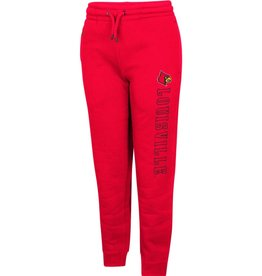 Colosseum Athletics PANT, YOUTH, JOGGER, WALK, RED, UL