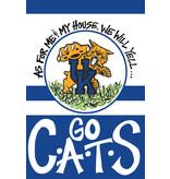 FLAG, GARDEN, GO CATS, UK