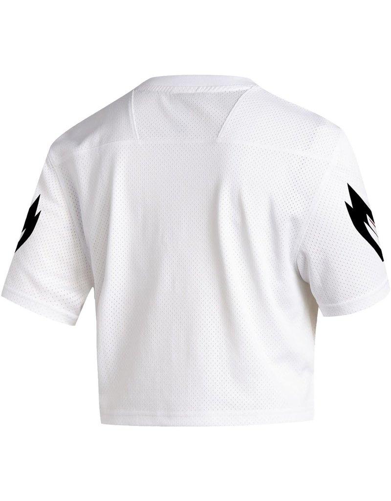 Adidas Sports Licensed JERSEY, LADIES, ADIDAS, CROP, WHITE, UL