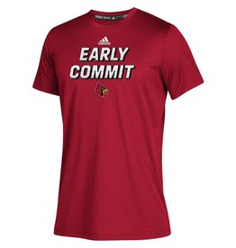Adidas Sports Licensed TEE, SS, ADIDAS, YOUTH, EARLY COMMIT, RED, UL