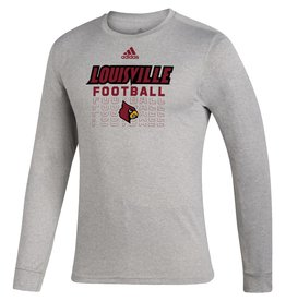 Adidas Sports Licensed TEE, ADIDAS, LS, LOCKER FOOTBALL, GRAY, UL