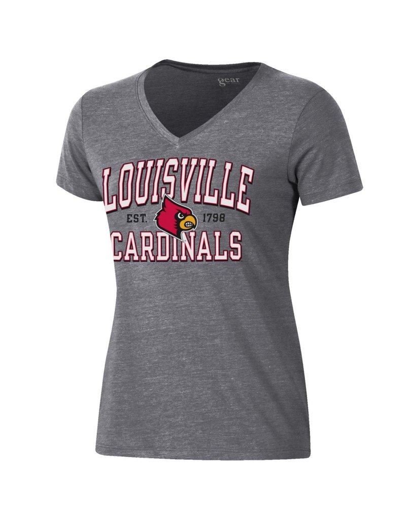 Gear for Sports TEE, LADIES, SS, EST, 1798, TRI, GRAY, UL