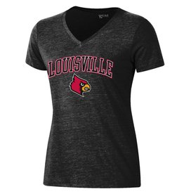 Gear for Sports TEE, LADIES, SS, LOU CARDINALS, BLACK, UL