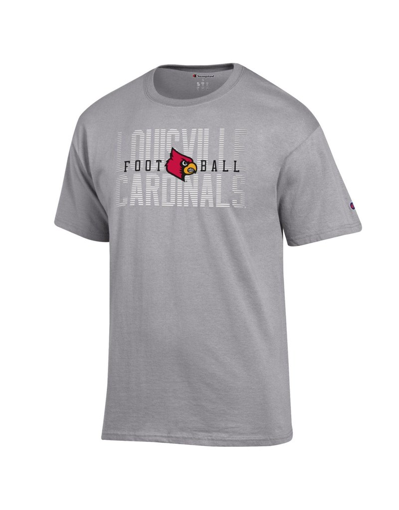 Champion Products TEE, SS, LOUISVILLE FOOTBALL, GREY, UL