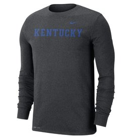 Nike Team Sports TEE, LS, NIKE, COLLEGE DRI-FIT, CHARCOAL, UK