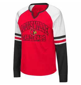 Colosseum Athletics TEE, LADIES, LS, ASTRONAUT, RED/BLK, UL