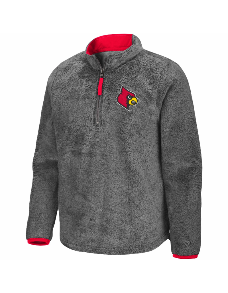 Colosseum Athletics PULLOVER, YOUTH, GIRLS, PUFFER FISH, GREY, UL