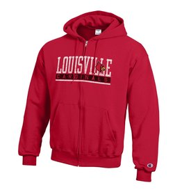 Champion Products HOODY, FZ, SCREEN, LOU CARD, RED, UL