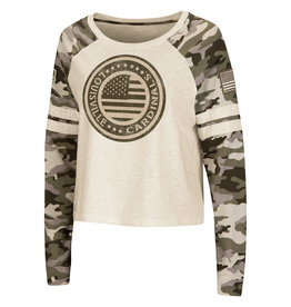 Colosseum Athletics TEE, LADIES, LS, OHT, CROP, ADVANCE, CAMO, UL