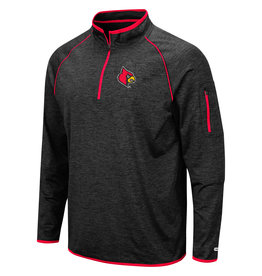 Colosseum Athletics PULLOVER, 1/4 ZIP, DUFF, BLACK, UL