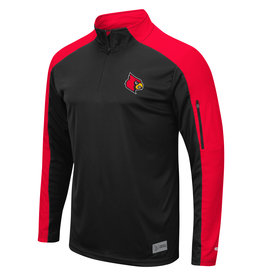 Colosseum Athletics PULLOVER, 1/4 ZIP, APU, BLK/RED, UL