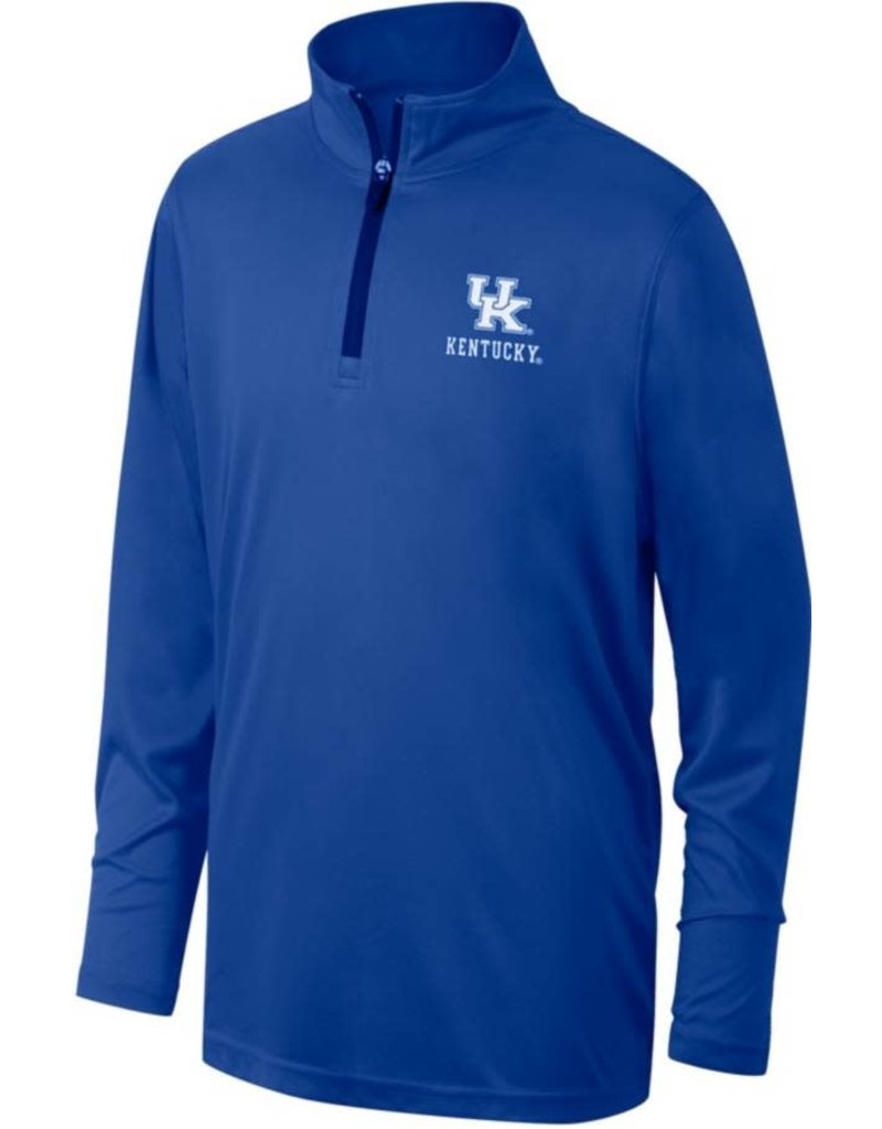 Top of the World PULLOVER, 1/4 ZIP, WOVEN, ROYAL, UK