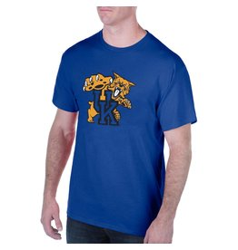 Top of the World TEE, SS, BIG CAT LOGO, ROYAL, UK