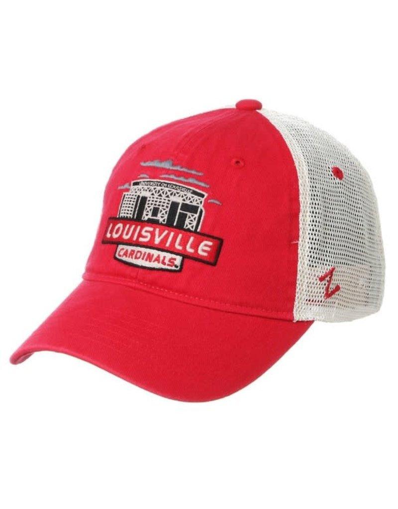 Zephyr Graf-X HAT, ADJUSTABLE, KNOXVILLE, RED/WHITE, UL