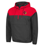 Colosseum Athletics PULLOVER, 1/4 ZIP, LAWYERED ANORAK, CHAR/RED. UL
