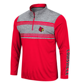 Colosseum Athletics PULLOVER, 1/4 ZIP, TUXEDO, RED/HEATHER, UL