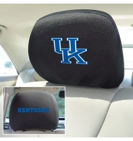 Fanmats HEADREST COVERS, BLACK, 1 PR, UK