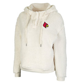 Colosseum Athletics PULLOVER, LADIES, SNAP!, SHERPA, NAT, UL