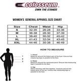 Colosseum Athletics PULLOVER, LADIES, 1/2 ZIP, GLITTERATI, RED, UL