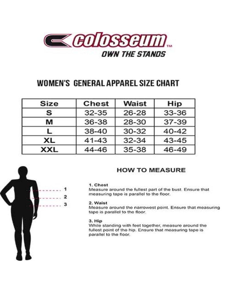 Colosseum Athletics HOODY, LADIES, TUNIC, LIEN AIR, RED/BLK, UL