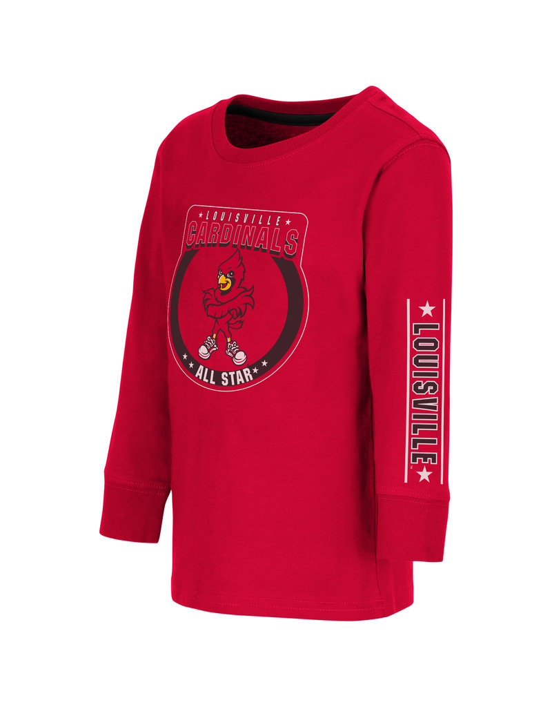 Colosseum Athletics TEE, TODDLER, LS, BLUE BIRDS, RED, UL