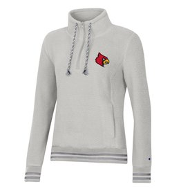 Champion Products PULLOVER, LADIES, 1/4 ZIP VARSITY, WHITE, UL