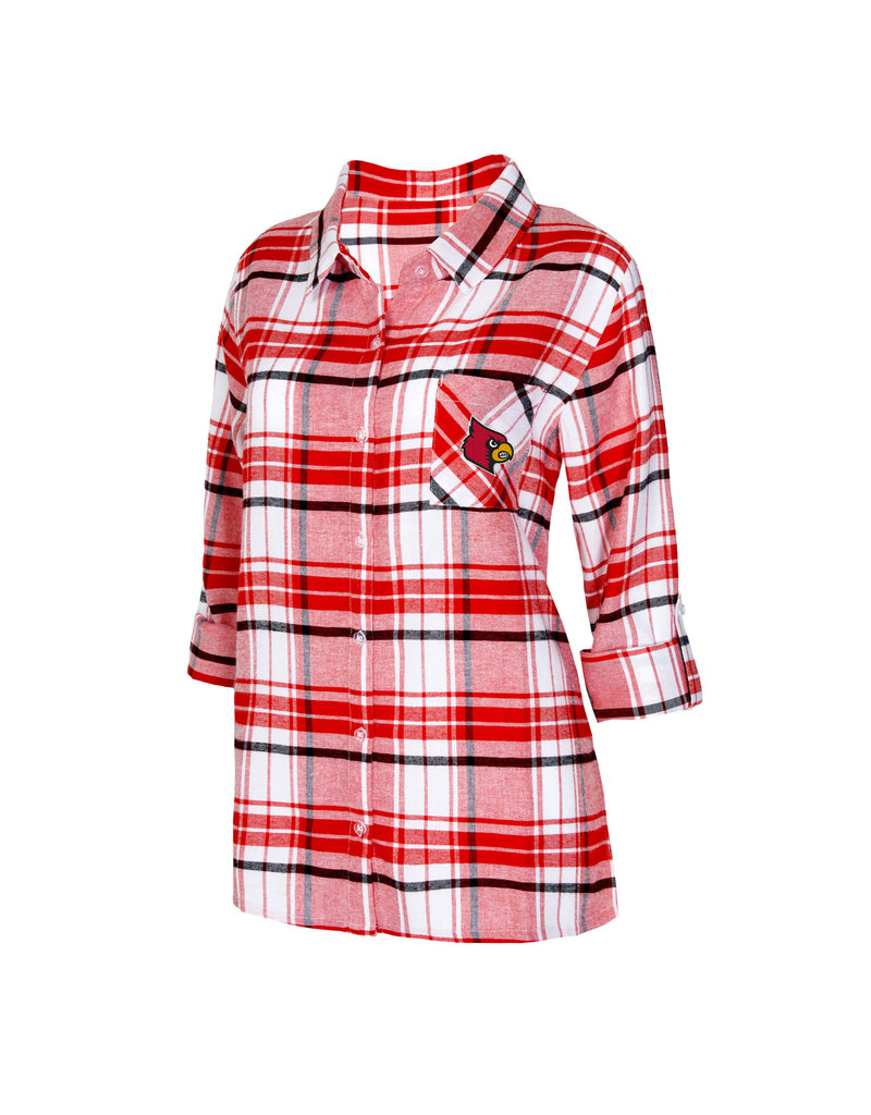 Concept Sports NIGHTSHIRT, LADIES, LS, ACCOLADE, RED, UL