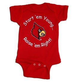 Little King ONESIE, START EM YOUNG, RED, UL