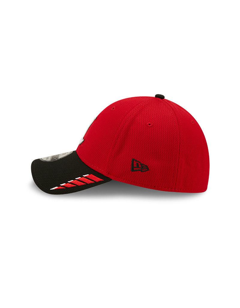 NEW ERA HAT, STRETCH, 2TRUSH, RED/BLK, UL