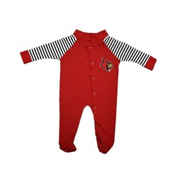 Little King SLEEPER, INFANT, LS, FOOTED, STRIPED, UL