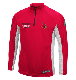 Colosseum Athletics PULLOVER, 1/4 ZIP, TACTICAL, RED/ ARCTIC, UL