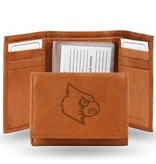 Rico Industries WALLET, TRI-FOLD, LEATHER, BROWN, UL