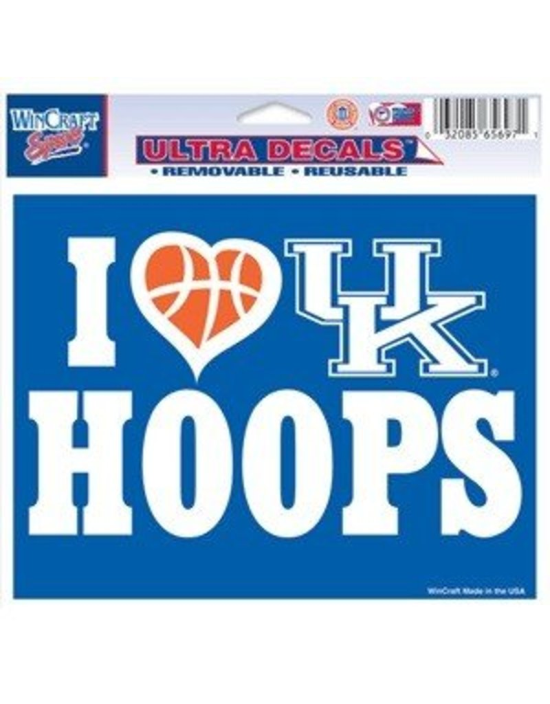 Wincraft Inc DECAL, UK HOOPS, 6 INCH, UK