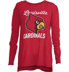Pressbox TEE, LADIES, LS, NOELLE, RED, UL