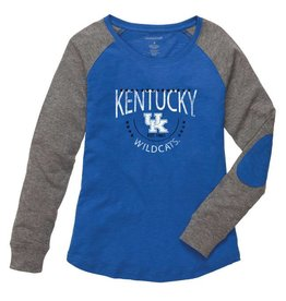 Boxercraft TEE, YOUTH, GIRLS, LS, RAGLAN PATCH, ROYAL/GRAY, UK