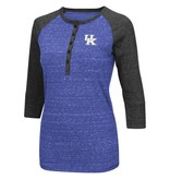 Colosseum Athletics TEE, LADIES, 3/4 SLEEVE, SPLIT, ROYAL, UK
