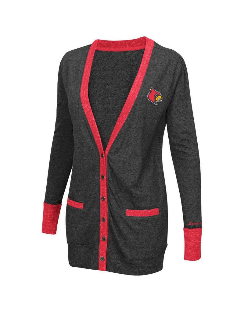 Colosseum Athletics LADIES, LS, CARDIGAN, CHAR, UL