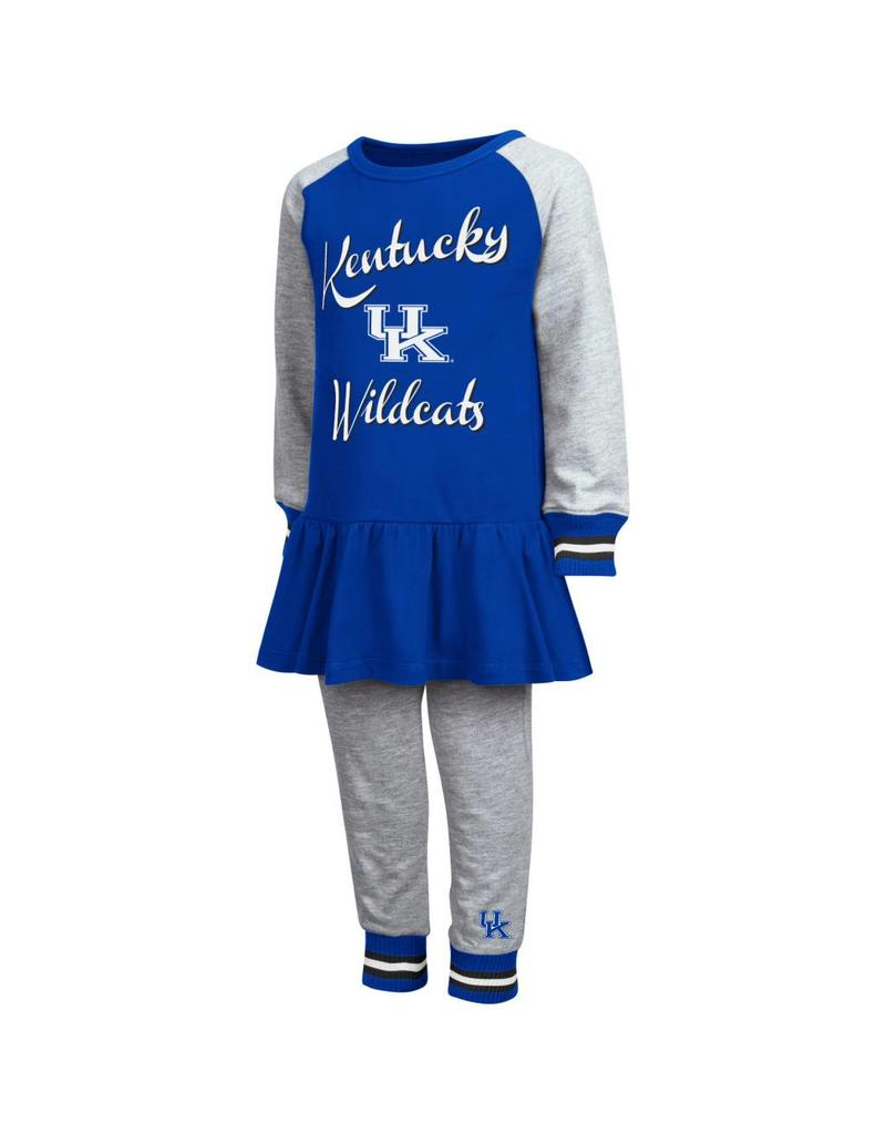 Colosseum Athletics TODDLER SET, GIRLS, LS, SPIRIT, ROYAL/GRAY, UK