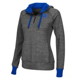 Colosseum Athletics PULLOVER, LADIES, 1/2 ZIP, HOODED, CHARCOAL, UK