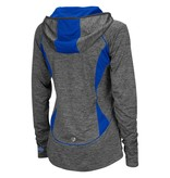 Colosseum Athletics PULLOVER, LADIES, 1/4 ZIP, HOODED, MONET, CHAR/ROYAL, UK