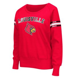 Colosseum Athletics CREW, LADIES, RAGLAN, RED, UL